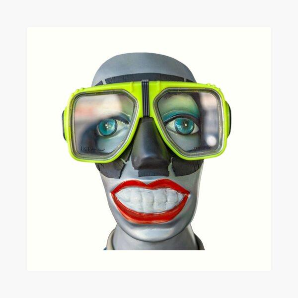Plongeur souriant Impression artistique