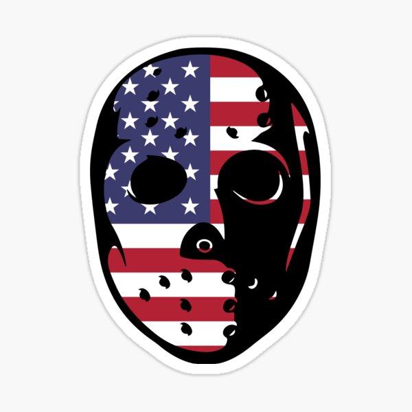 Friday the 13th Goalie Mask-United States Sticker