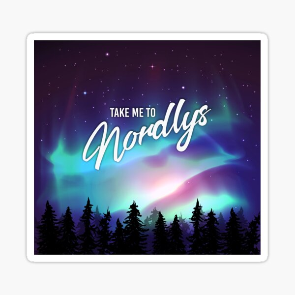 Take me to Nordlys - The Mirror Souls Trilogy Sticker