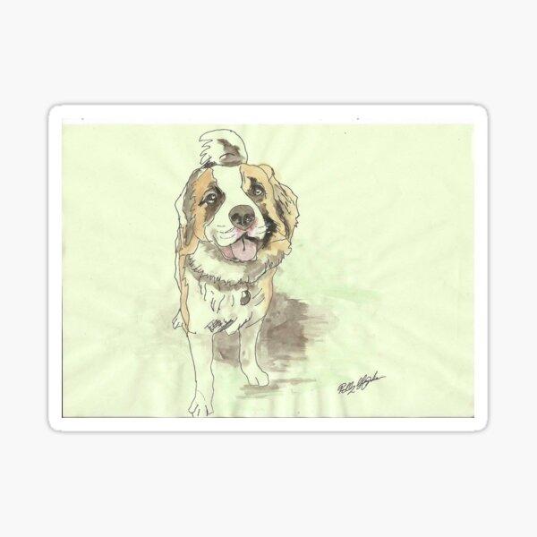 Saint bernard dog Sticker