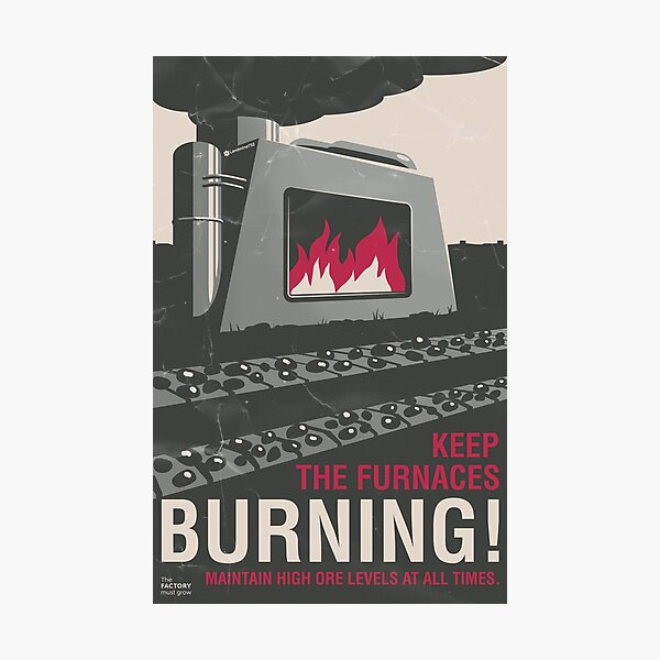Keep the Furnaces Burning Photographic Print