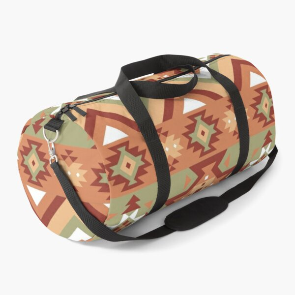 Aztec geometric pattern Duffle Bag