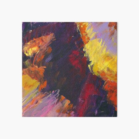 Fiery Horizon, Conscious, Colorful Abstract Landscape Art by Courtney Hatcher  Art Board Print