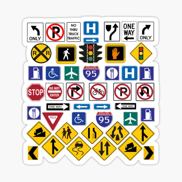 Road Signs, Regulations signs Sticker