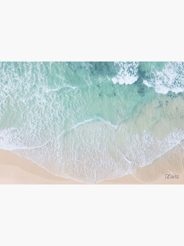 Green And White Lace Beach Sand and Seashore by IZiets