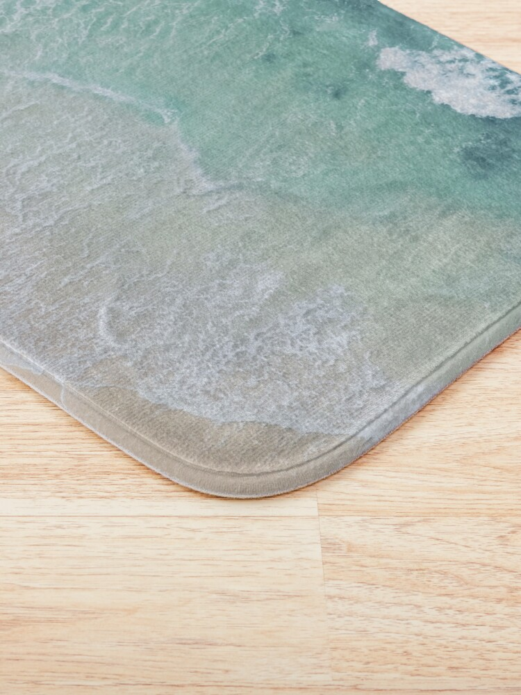 Alternate view of Green And White Lace Beach Sand and Seashore Bath Mat