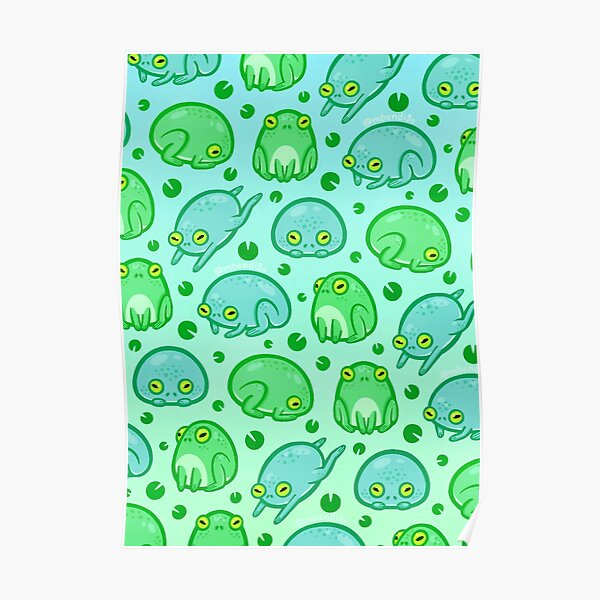 Friendly Frogs Poster