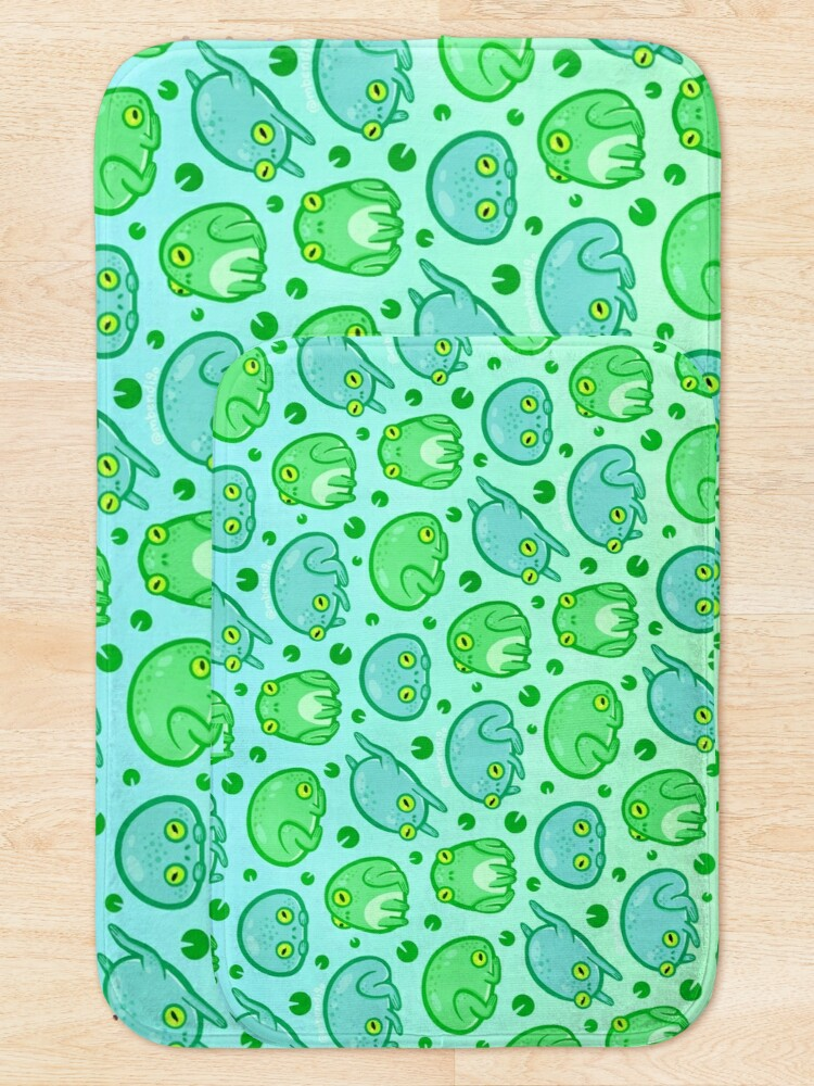 Alternate view of Friendly Frogs Bath Mat