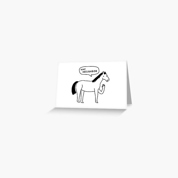 Hi Horse! Greeting Card