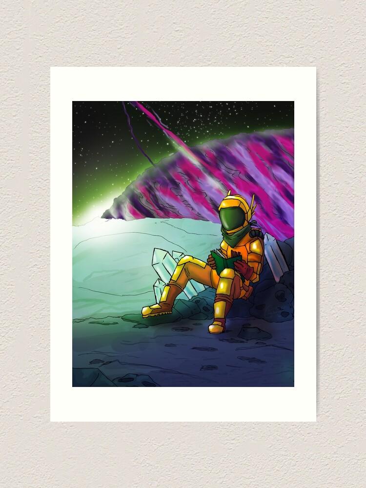 Alternate view of Space Read Art Print