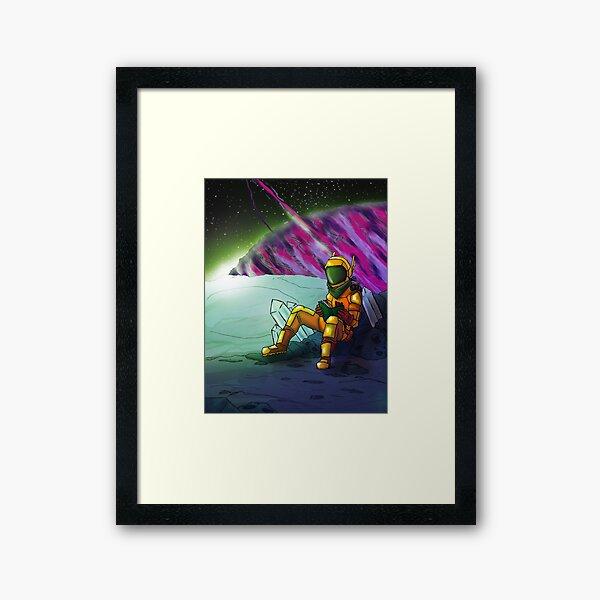 Space Read Framed Art Print