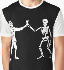 Black Bart Pirate Flag Graphic T-Shirt