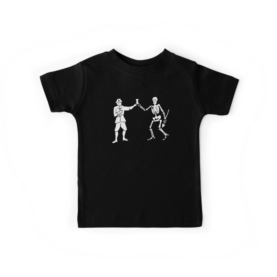'Black Bart Pirate Flag' Kids Clothes by kayve