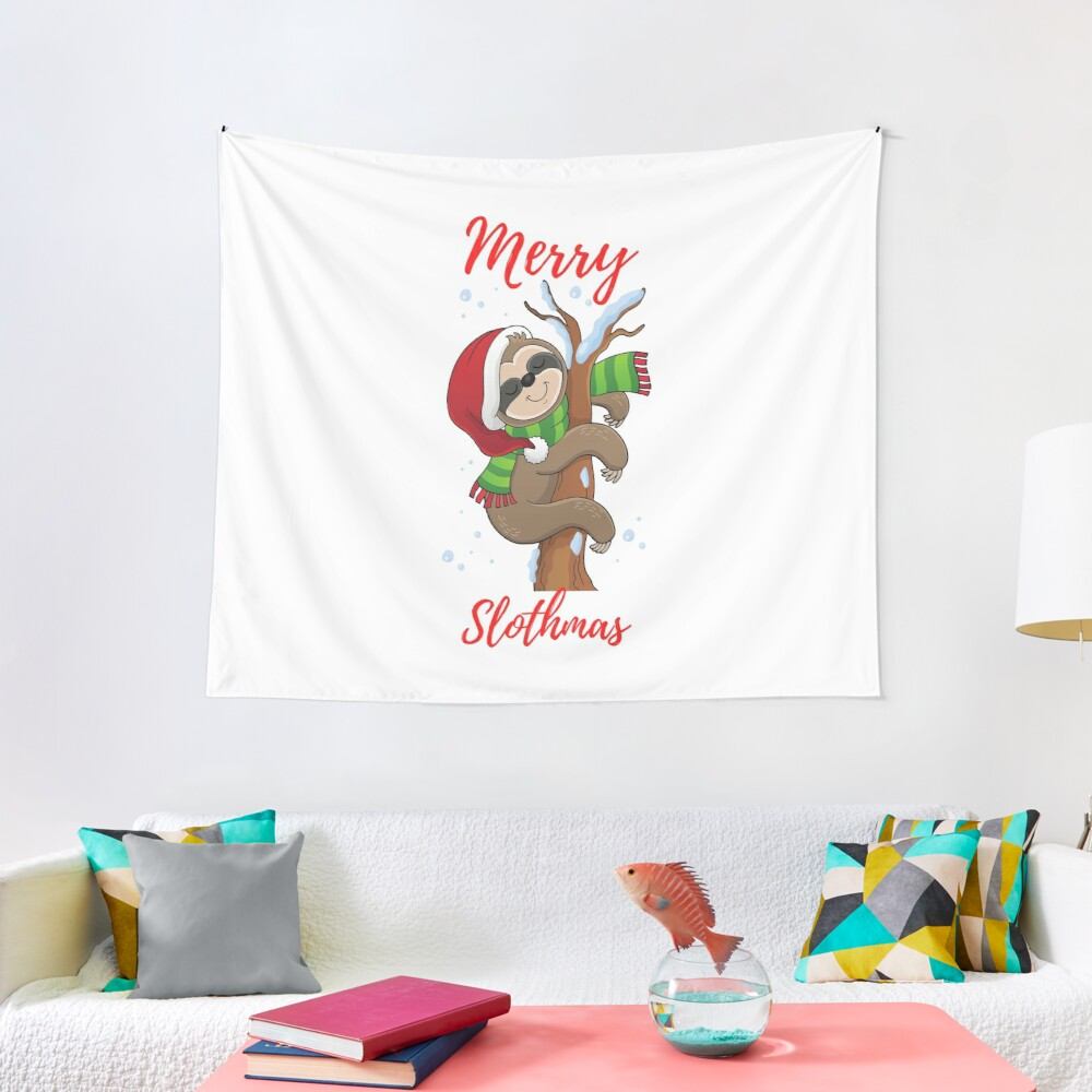 Merry Slothmas Tapestry