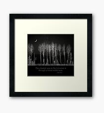 The clearest way to the Universe is through a forest wilderness. Framed Print