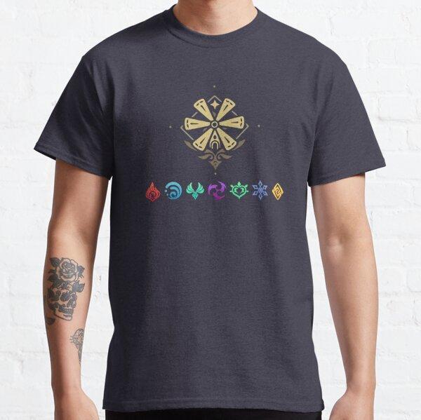 Impacto de los elementos de impacto de Genshin Camiseta clásica