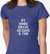 #MyHardDriveWeighsATon Women's Fitted T-Shirt