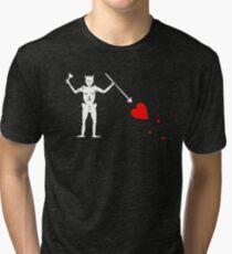 Edward Teach Pirate Flag Tri-blend T-Shirt