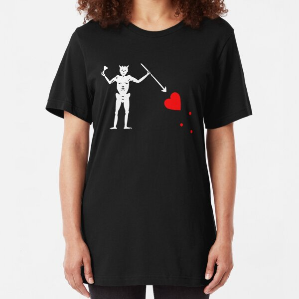 Edward Teach Pirate Flag Slim Fit T-Shirt