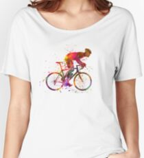 cyclist road bicycle Women's Relaxed Fit T-Shirt