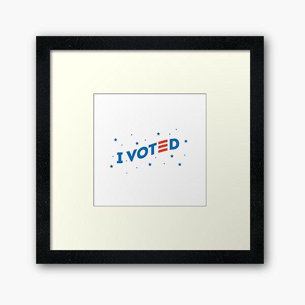 I voted. Framed Art Print
