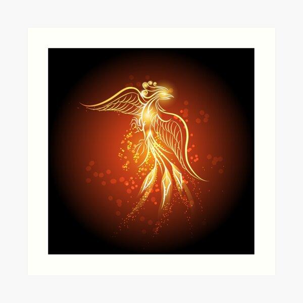 Rising phoenix Art Print