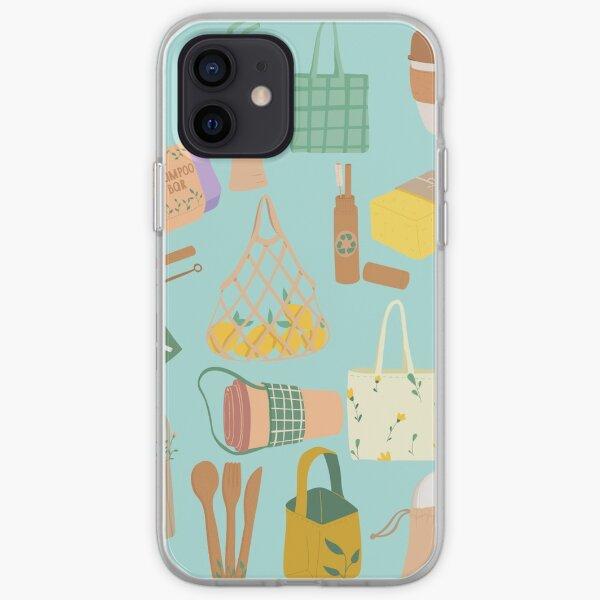 Productos ecológicos (azul) Funda blanda para iPhone