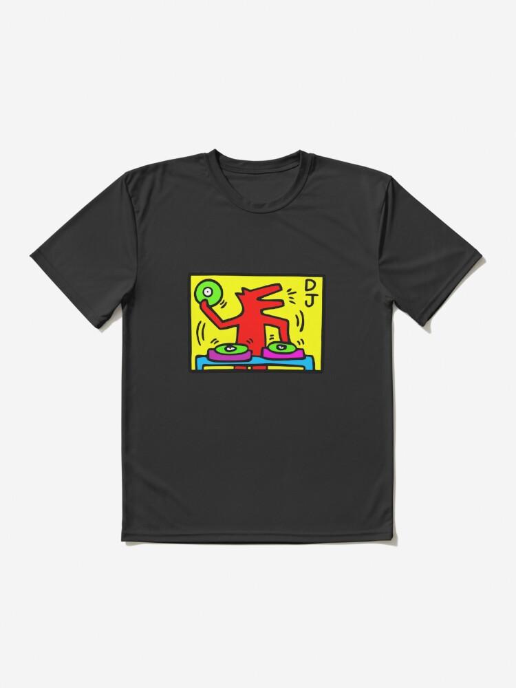 S-5XL DJ // 1988 // Talking Heads // Abstract // Pop Art T Shirt Keith Haring