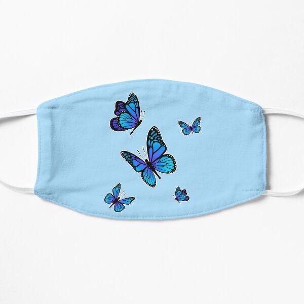 Aesthetic Light Blue Butterflies | Aesthetic Giftidea Flat Mask
