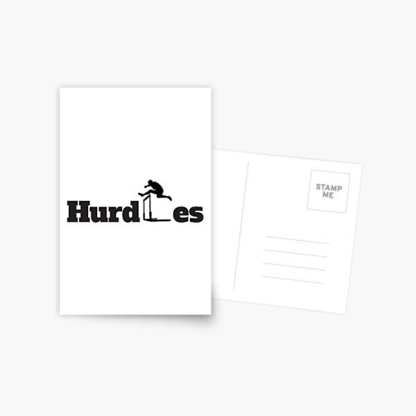 Hurdles Postcard