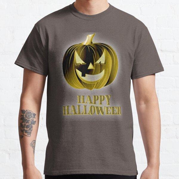 Happy Halloween - Gold Pumpkin-Head Tee Classic T-Shirt