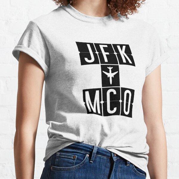 JFK to MCO - New York to Orlando Airport Code Classic T-Shirt