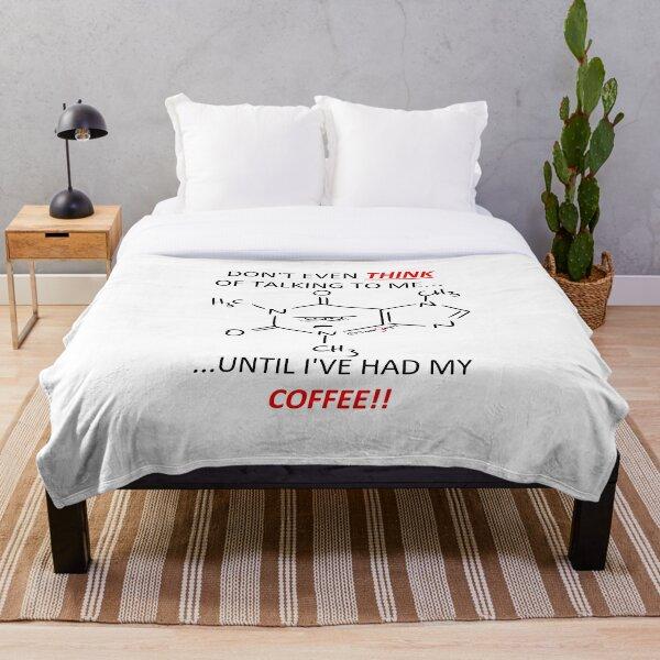 Grumpy Caffeine  Throw Blanket