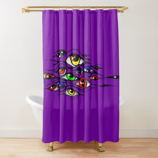 Mysterious eyes Shower Curtain