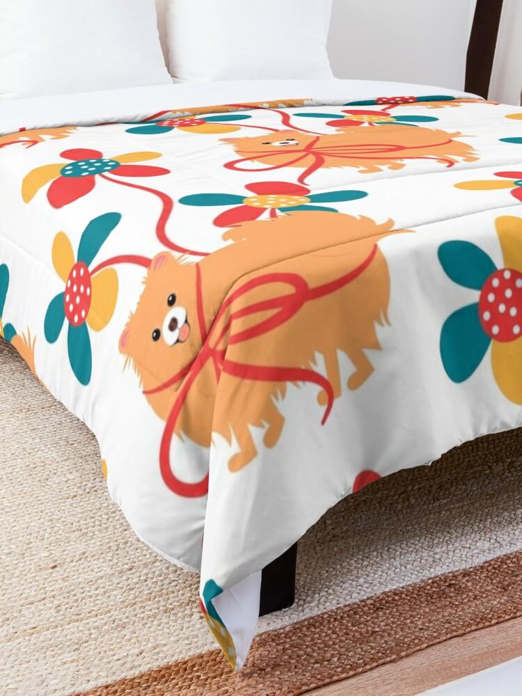 Alternate view of Sweet Pomeranian Dog Gift Comforter