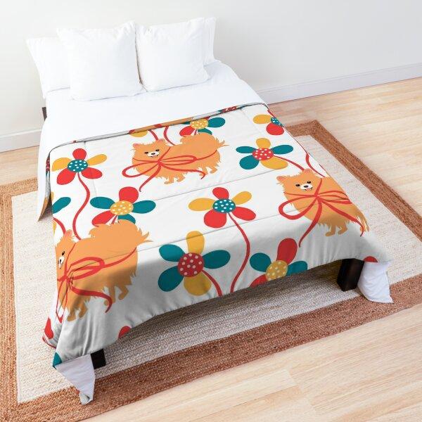 Sweet Pomeranian Dog Gift Comforter