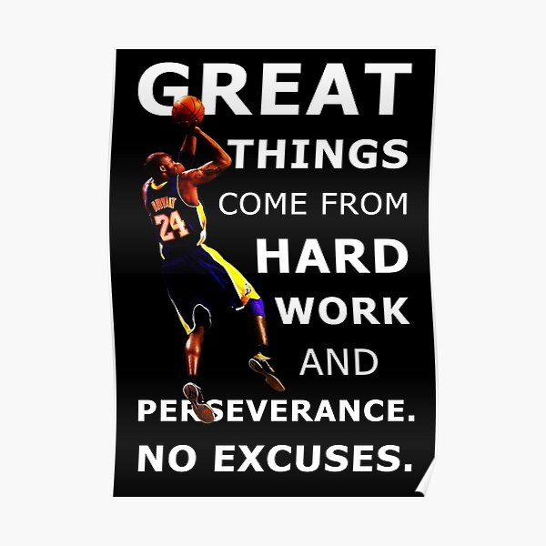 Basketball Sport Motivational Inspirational Quote  Poster
