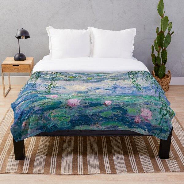 Water Lilies Claude Monet Fine Art Throw Blanket