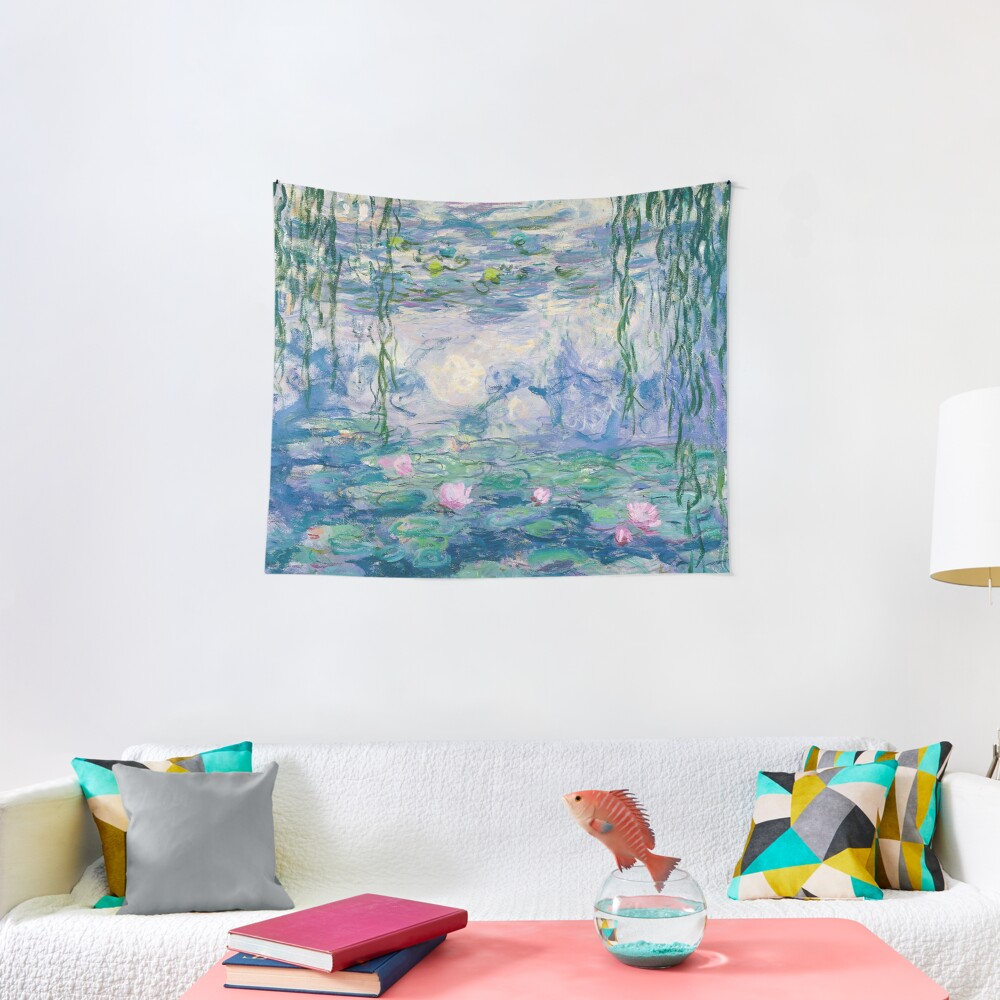 Water Lilies Claude Monet Fine Art Tapestry