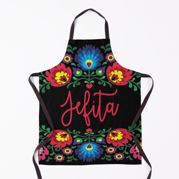 jefita latina floral shirts masks hoodies merch Apron
