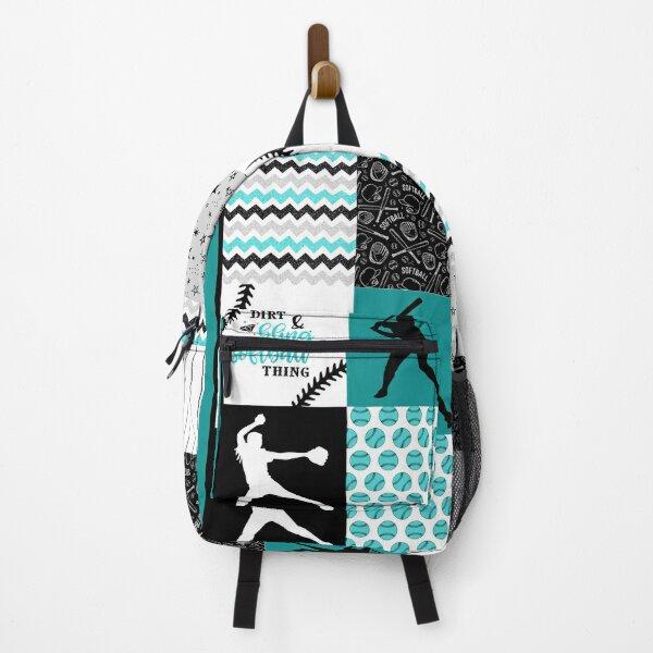 softball shape pattern blanket Backpack