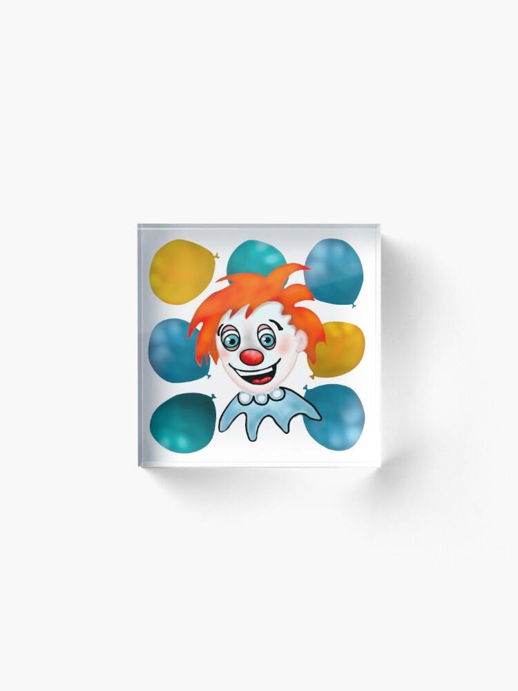 Alternate view of Mitzi the Happy Clown Acrylic Block