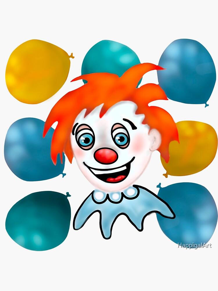 Mitzi the Happy Clown by HappigalArt