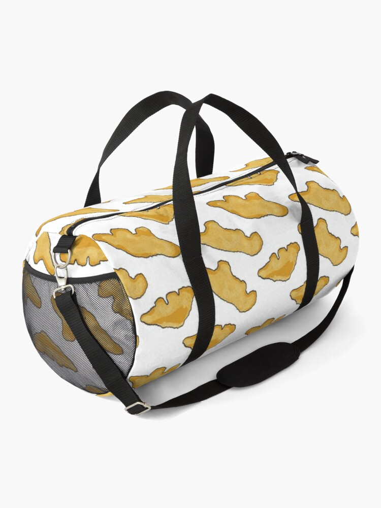 Alternate view of Dino Chicken Nuggets Pattern Duffle Bag