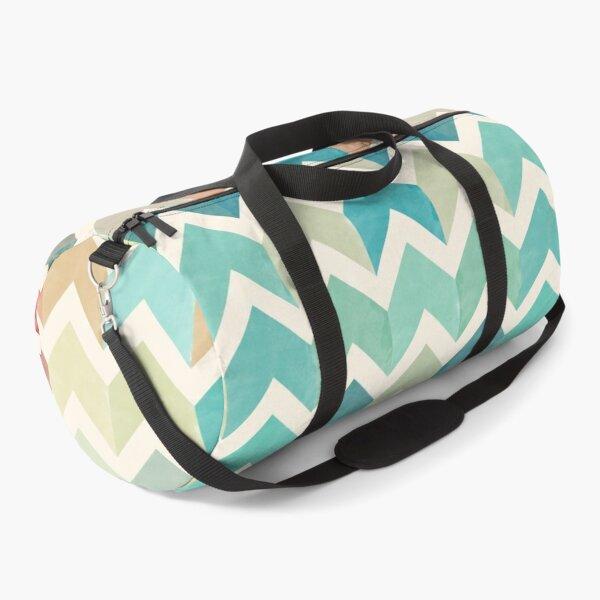 Watercolor Chevron Pattern Duffle Bag