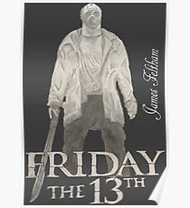 Póster Hand Drawn Friday The 13th Design