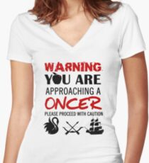 OUAT Oncer T-Shirt Women's Fitted V-Neck T-Shirt