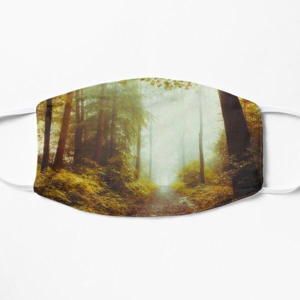 Inner Peace - Forest Hike in Morning light Flat Mask