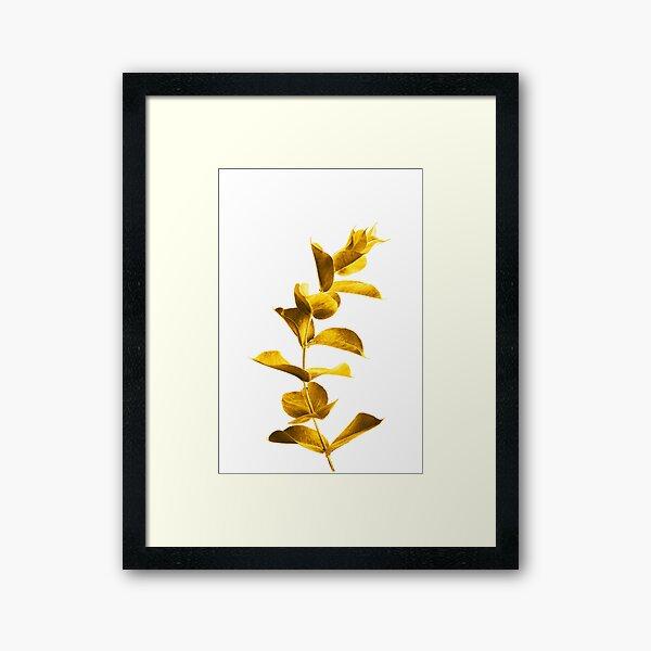 Beautiful Golden Leaf Framed Art Print