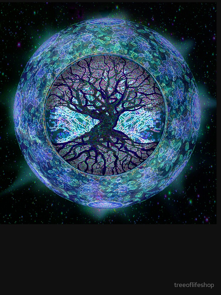 Planet Earth Circle of Life by treeoflifeshop